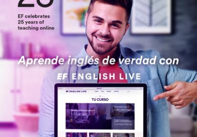 EF English Live, la mayor escuela de inglés online, celebra 25 años con descuentos y promociones